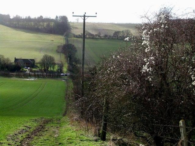 View downhill to Gade Plas