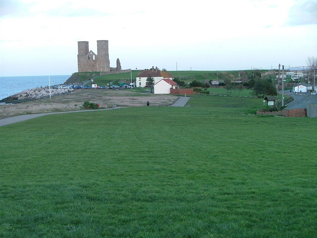 Site of Roman Fort at Reculver and disused church