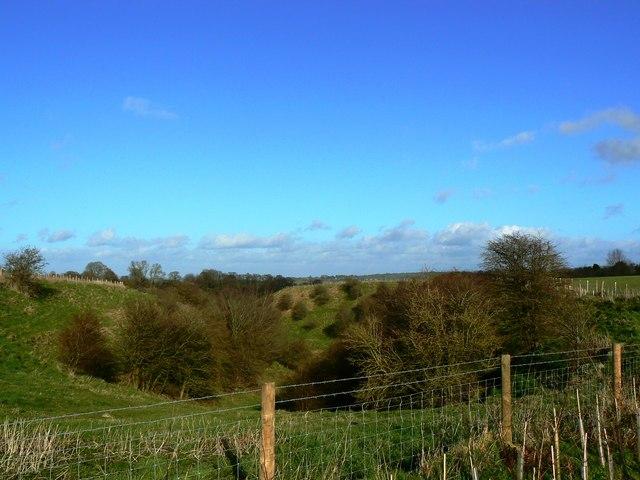 Unnamed, small combe, near Chiseldon, Swindon