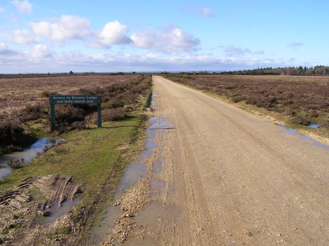 Track to Broomy Lodge and Holly Hatch, Broomy Plain, New Forest