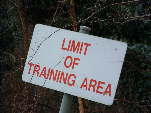 Limit Of Training Area