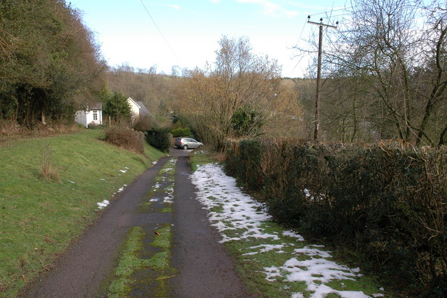 Lane to Cottages in Westhope