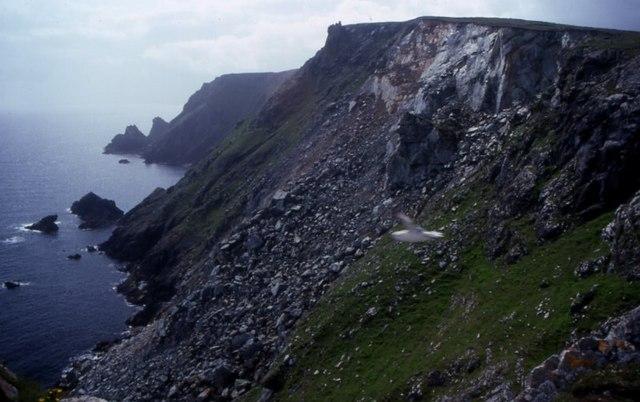 Clibberswick cliffs