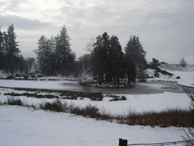 Frozen Lochan on one of many golf courses around Gleneagles