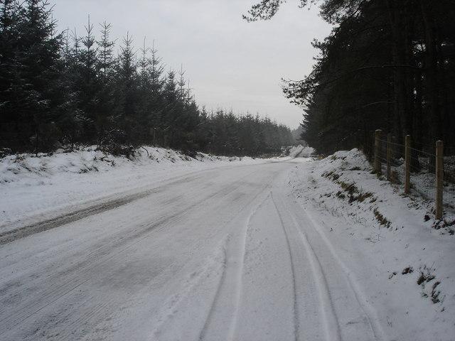 Wintery scene near Auchterarder