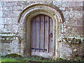 ST8218 : Door at St Margaret's Church by Miss Steel