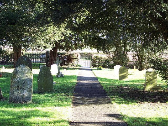 Church path at St Margaret's Church, Margaret Marsh