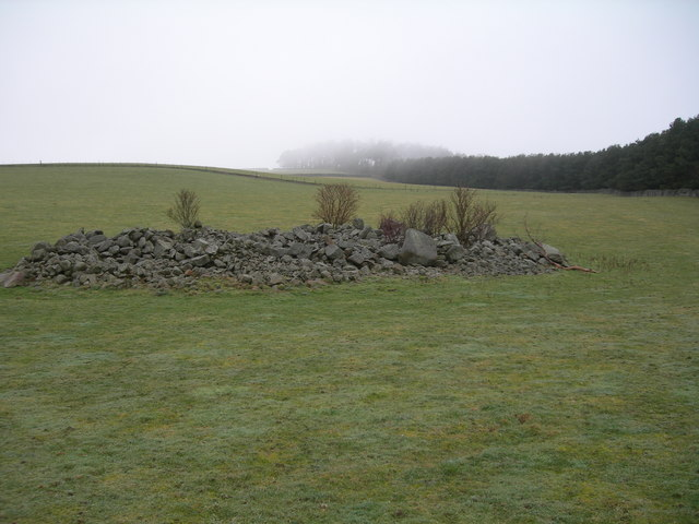 Settlement on slopes of Stoneshiel Hill