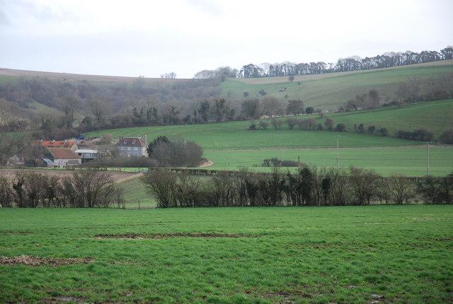 View towards Lower Bridmore Farm