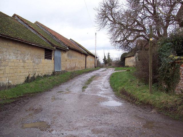 Footpath from Higher Farm to Manor Farm, Manston