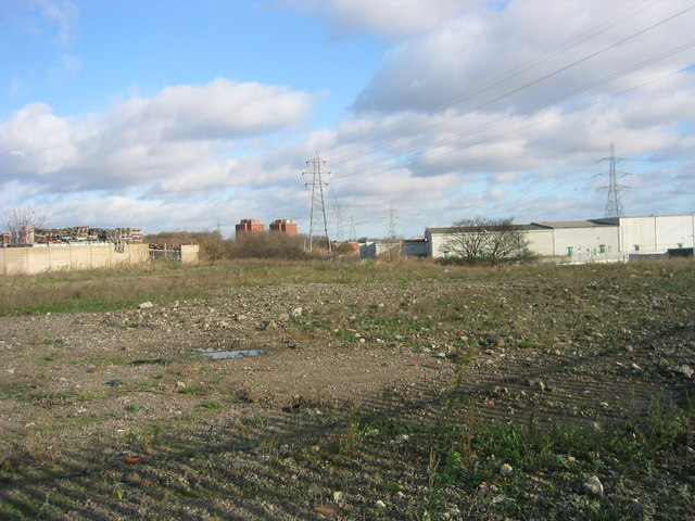 Industrial land cleared for the Olympic village and landscape, Waterden Lane