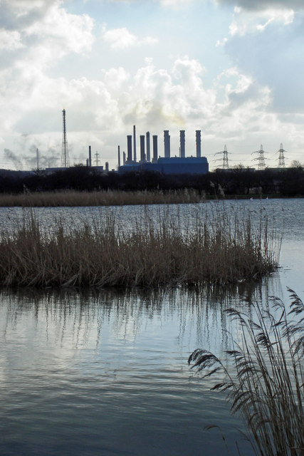 Looking towards the Killingholme Power Stations