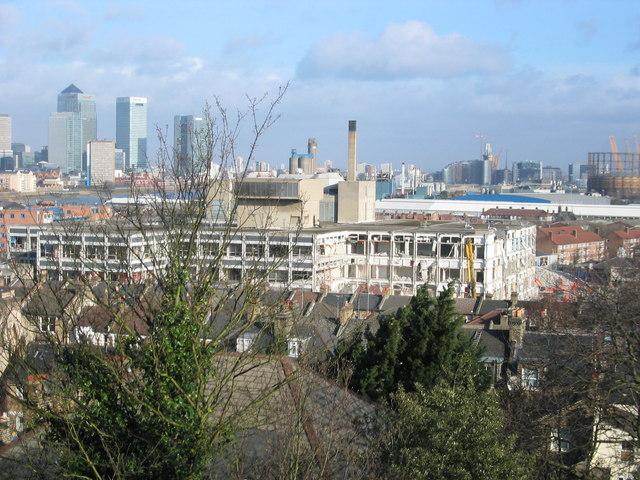The derelict Greenwich Regional Hospital before demolition