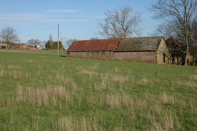 Old farm buildings at Cold Ash