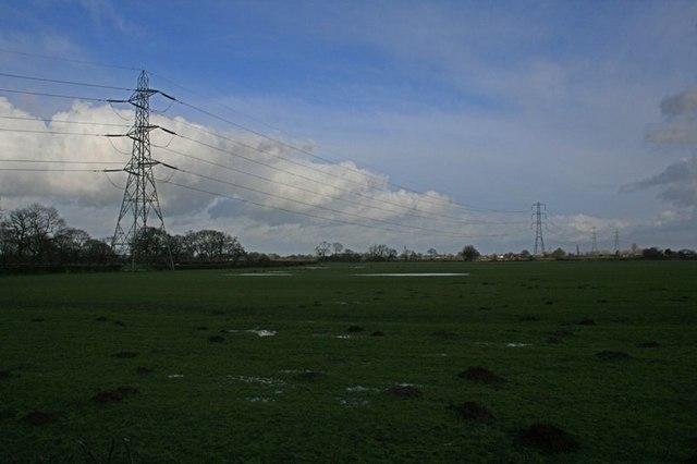 Transmission Towers Near Flat Top Farm