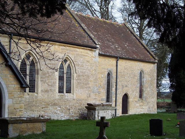 Manston Church and churchyard