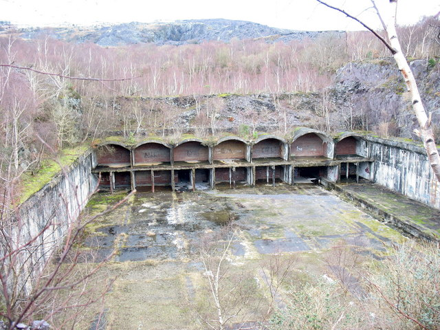 An overview of the Llanberis bomb base
