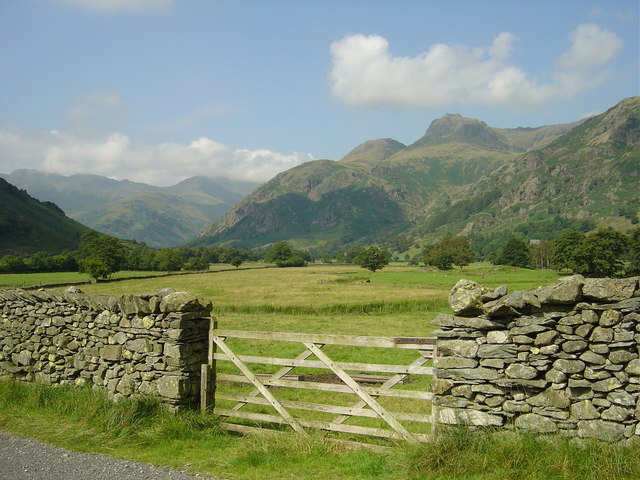 Great Langdale from close by Robinson Place