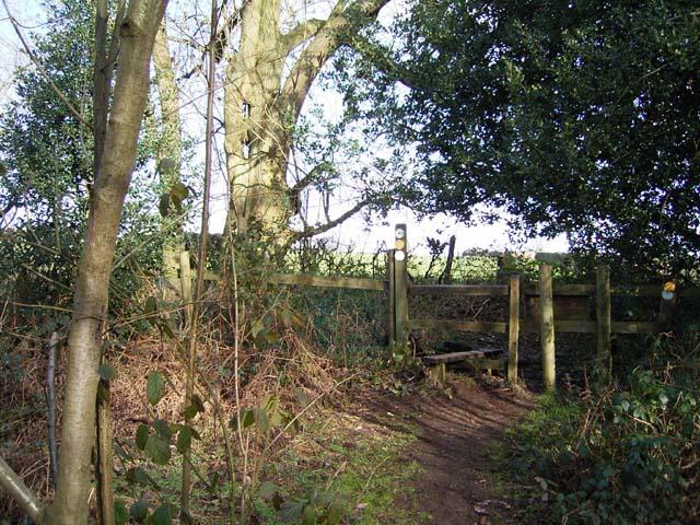 Stile at the Edge of Meriden Shafts Wood
