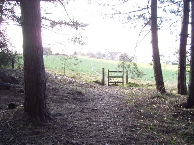 Stile exiting Church Wood, Solihull