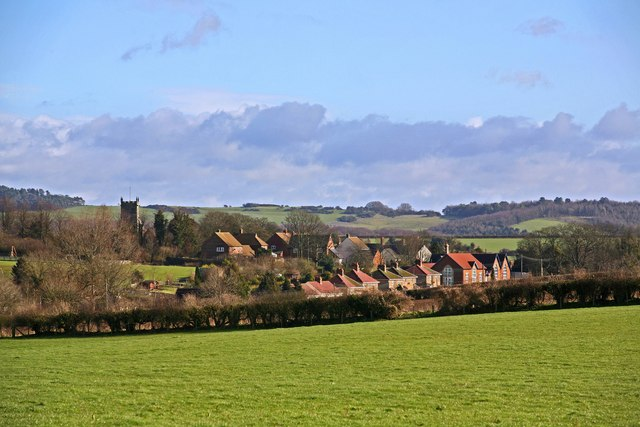 Sixpenny Handley with Pentridge Hill in background 2