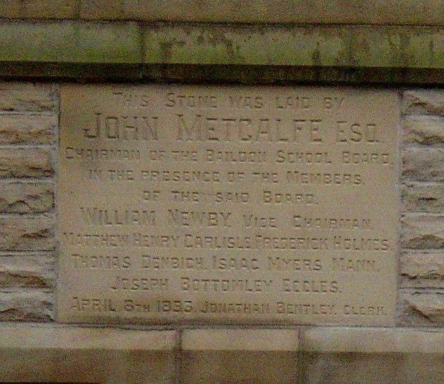Foundation stone, Sandals School, Green Lane, Baildon