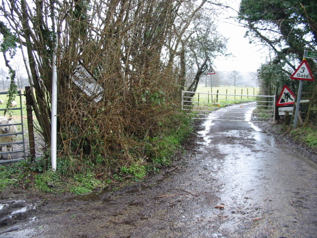 A gated public road