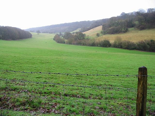 A view along a valley near Bladbean