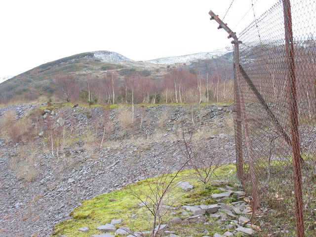 Landscaped waste tips of the Lower Glynrhonwy Quarry