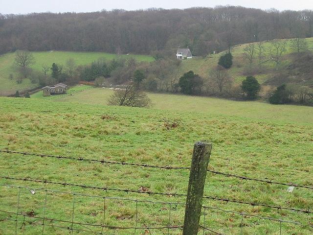 View across a valley near Bladbean