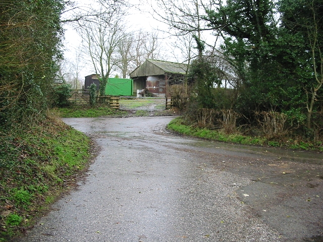 Great Palmstead Farm, outbuildings on road junction