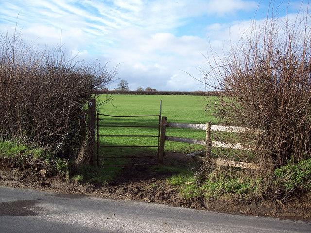 Bridleway gate near Salkeld Bridge