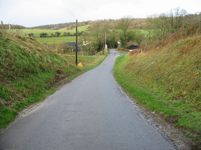 View along road towards South Barham Farm.