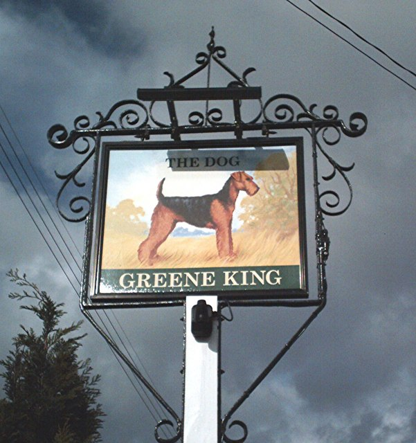 Pub sign - The Dog, Norton