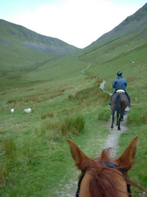 Bwlch Maesgwm on Horseback