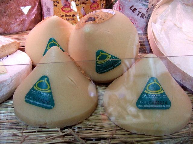 Spanish cheese in Cardigan market
