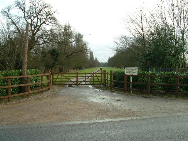 Gates to Needham Hall, Friday Bridge