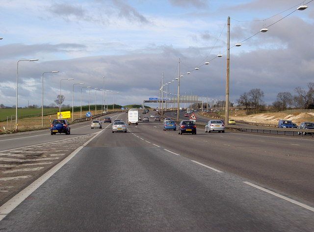 M1 at Junction 7, on a quiet day