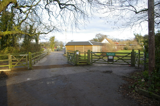 Entrance to Hole Farm Trekking Centre, and Woodgate Valley Urban Farm, Watery Lane