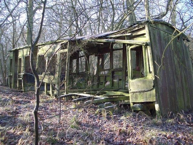 The Railway Carriage in Nun Wood