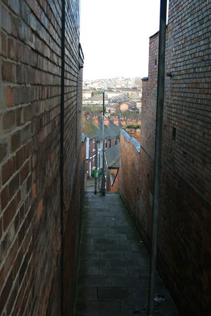 Stairway from Windmill Lane to Spalding Street, Sneinton