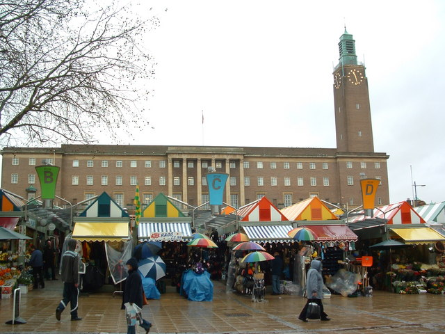 Norwich Market And City Hall