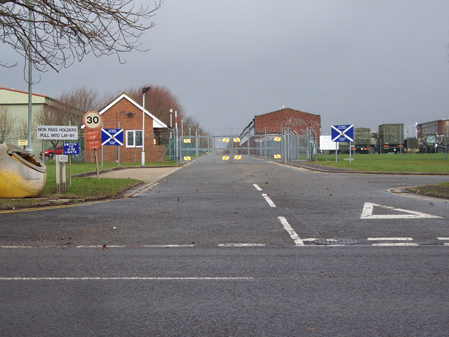 Entrance to Horne Barracks, Larkhill