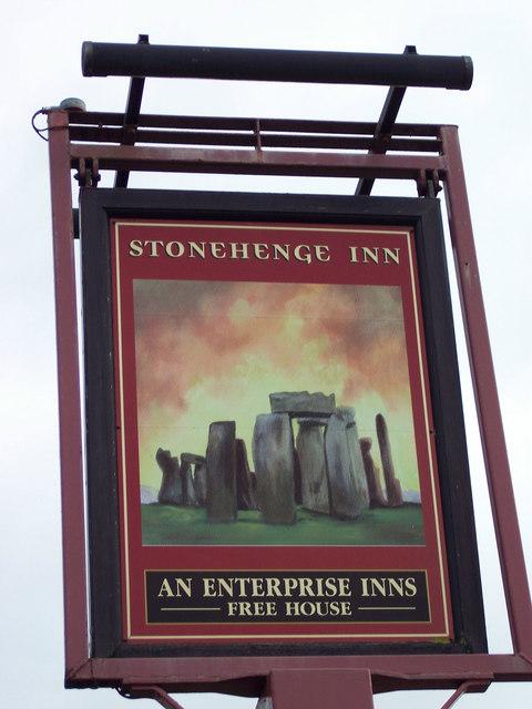 Sign for the Stonehenge Inn