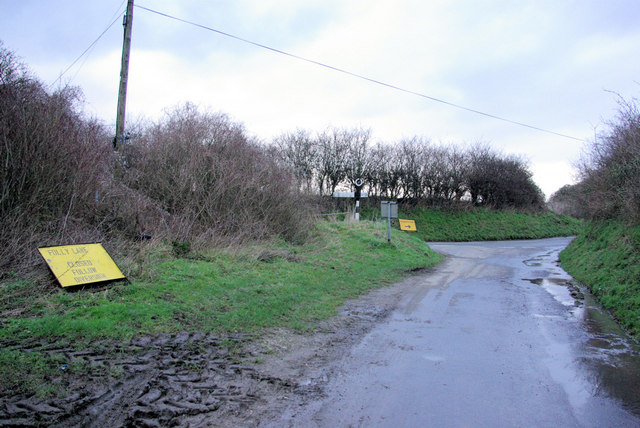 Junction of Glatting and Folly Lanes
