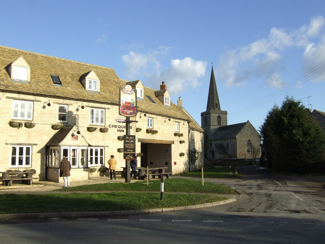 The Chequers and St. Peter's, Cassington