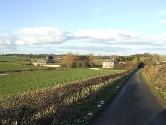 Lower Whitehill Farm and lane