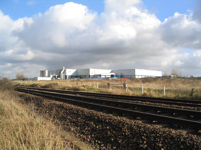 Melton Foods site from the railway line