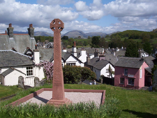 View over village from Hawkshead Church