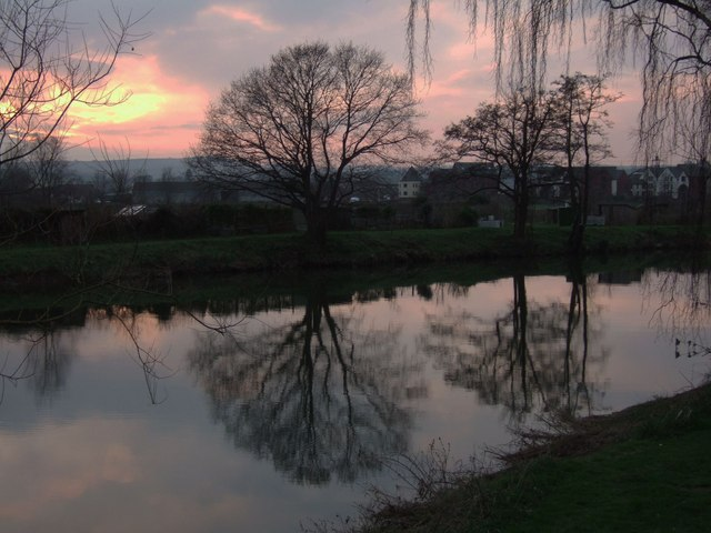 Sunset over the Exe